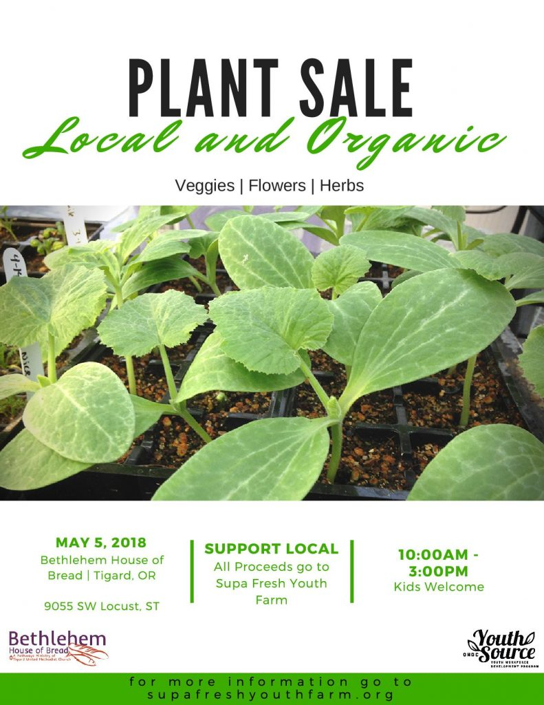 May 5, 2018 Plant Sale at BHOB