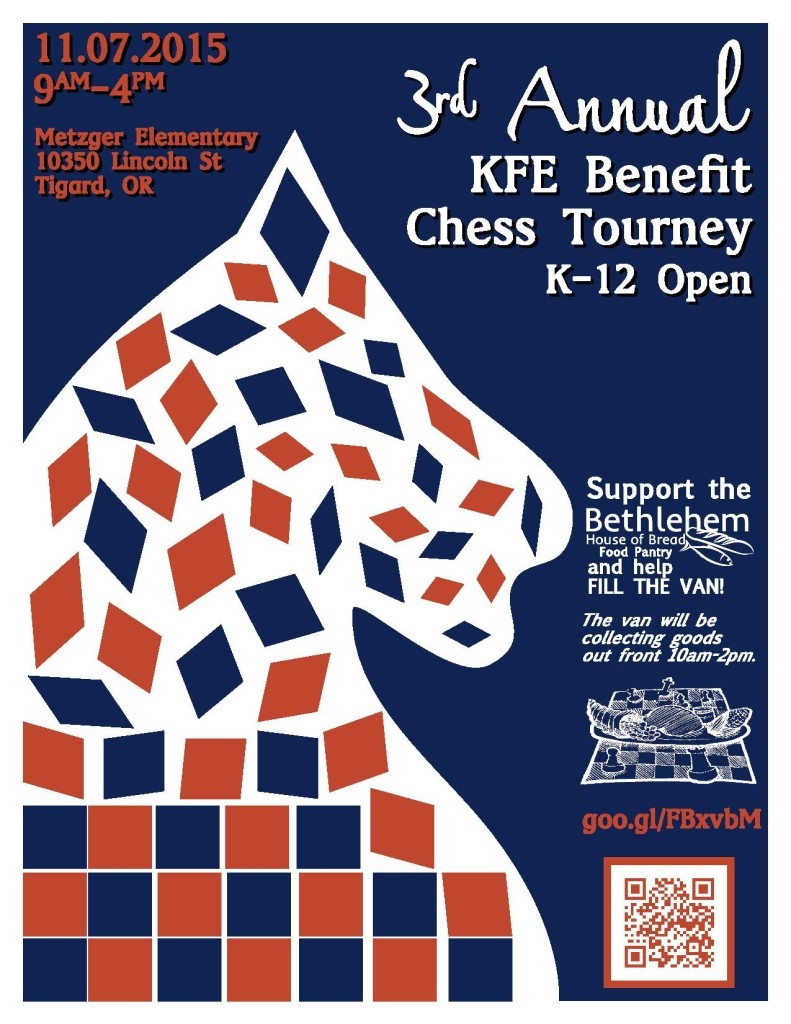 KFE Benefit Chess Tournament in support of BHOB, November 7, 2015