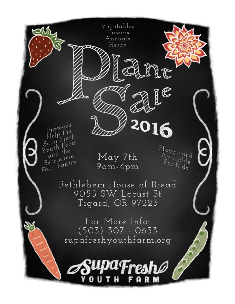 May 7, 2016 Plant Sale
